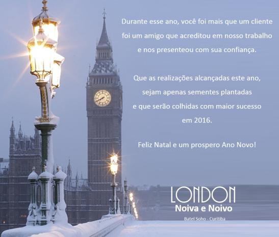 Natal London Noiva e Noivo