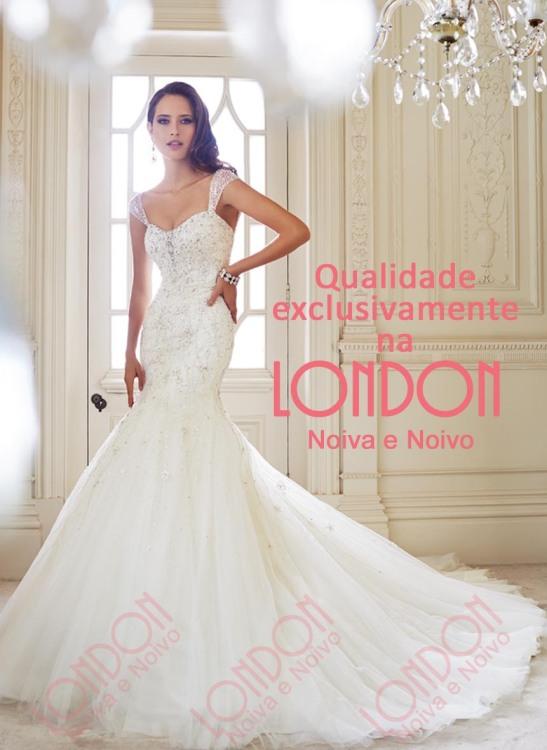 Vestido de Noiva de Qualidade Exclusivamente na London Noiva e Noivo em Curitiba